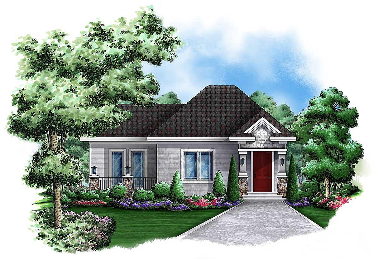 Quaint cottage guest house 66262we architectural for Cottage guest house plans
