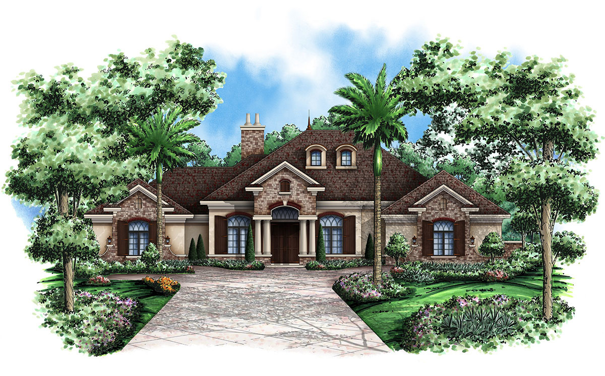 French country flair 66268we architectural designs for Large french country house plans
