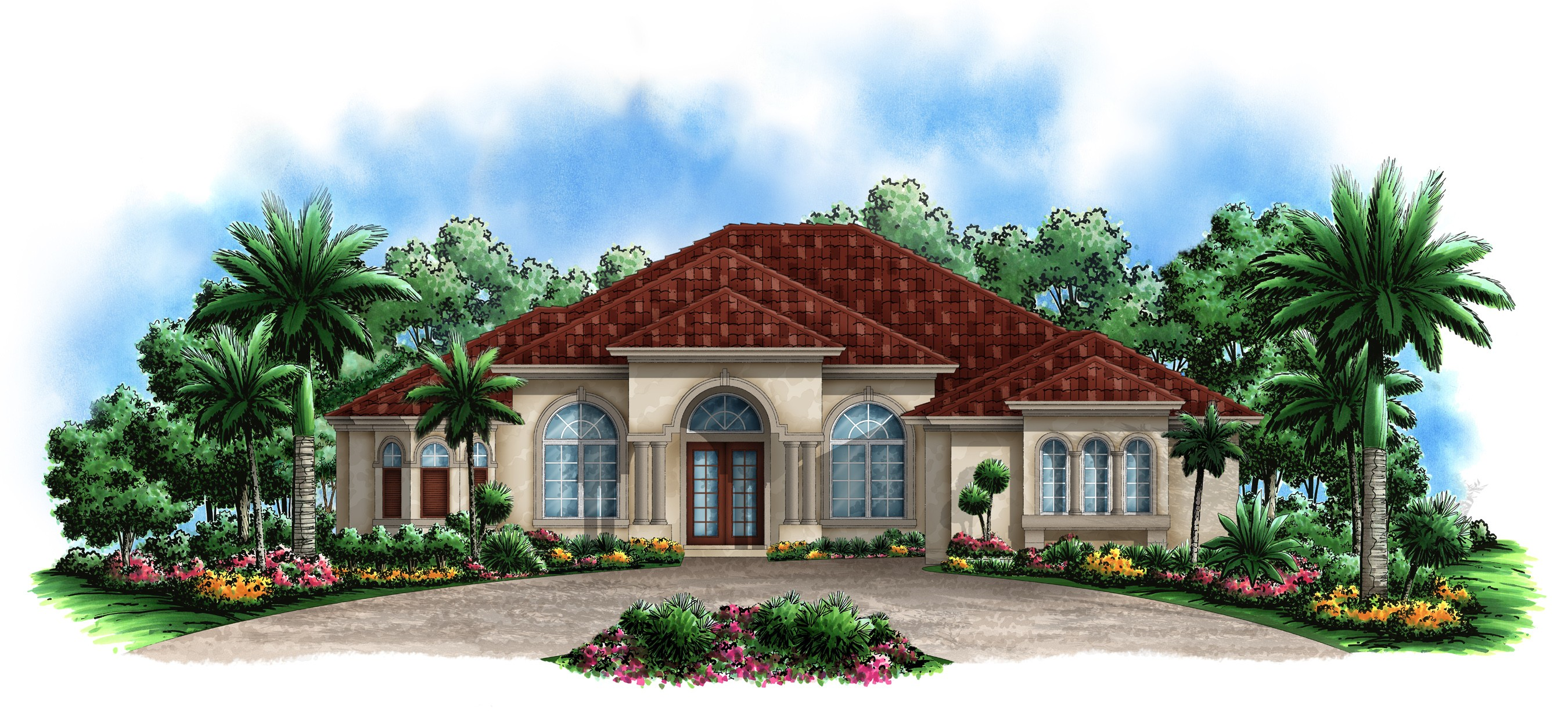 Great open house plan 66285we architectural designs for Beach house plans mediterranean
