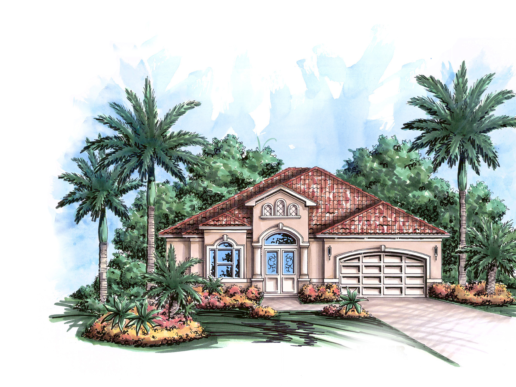 Mediterranean gem 66306we 1st floor master suite cad for Caribbean home plans