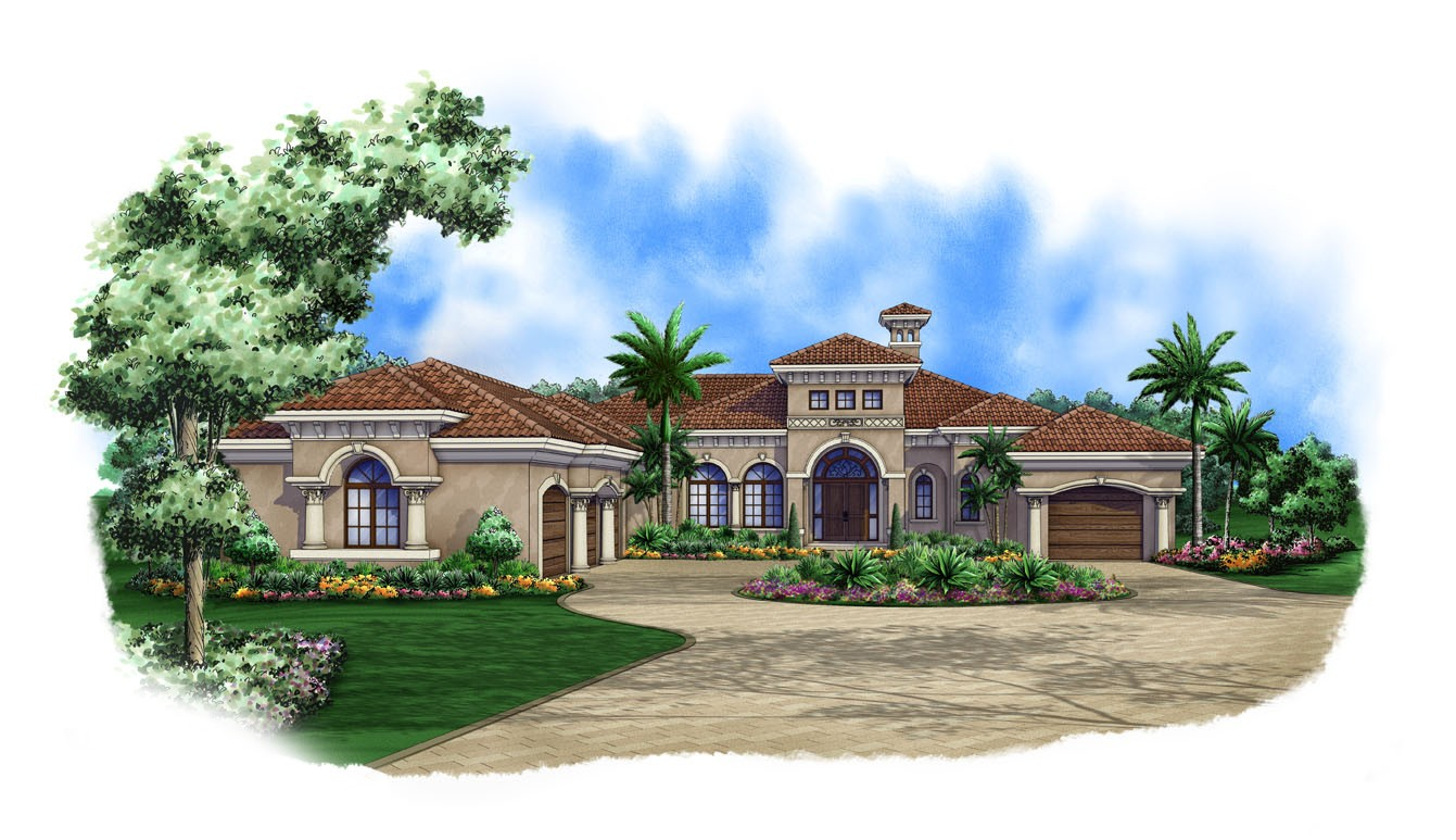 spanish style homes plans luxurious spanish style house plan 66315we architectural designs house plans 1309