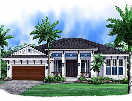 Exceptional 3 Bed West Indies House Plan   66318WE Pictures Gallery