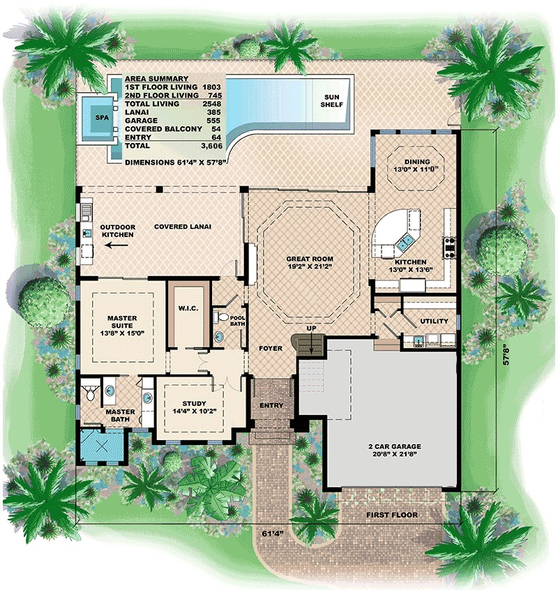 West indies house plan with great outdoor areas 66319we for West indies house plans