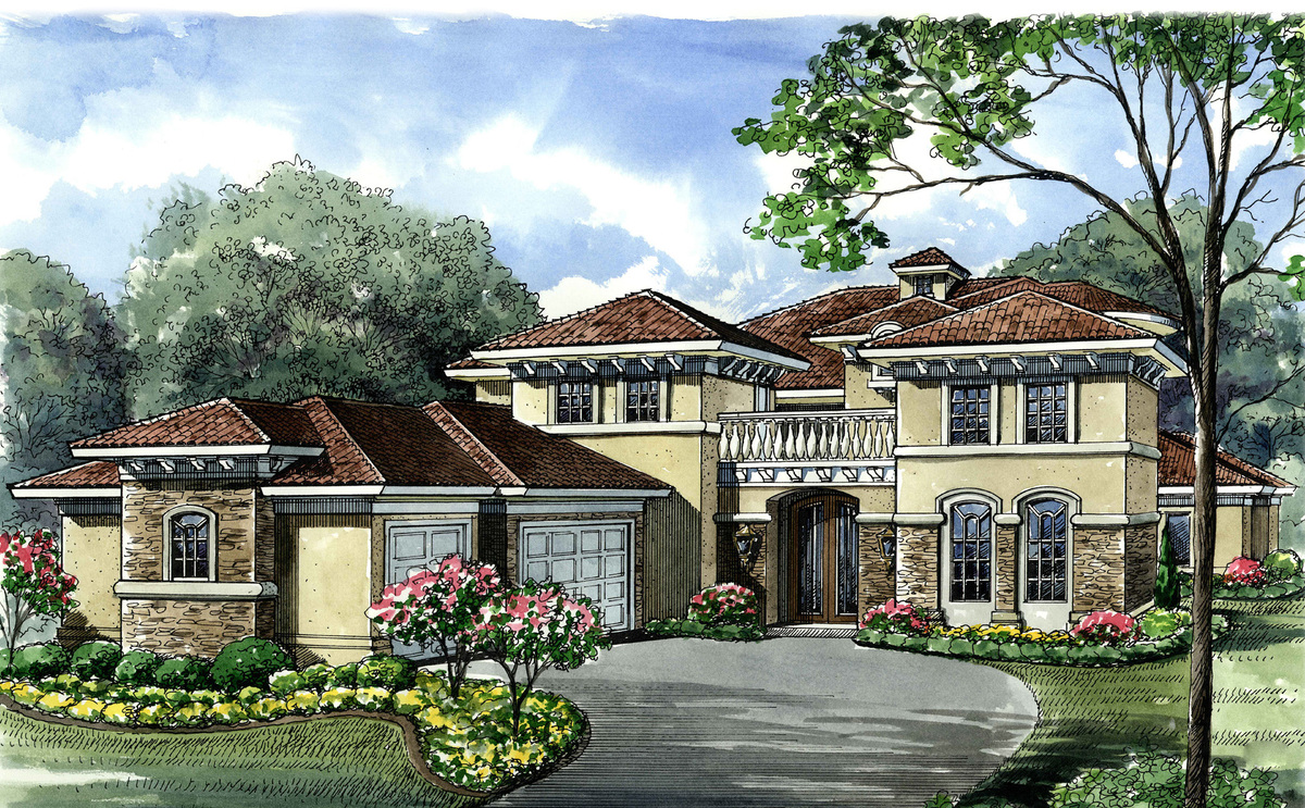 Mediterranean house plan with exciting features 67109gl for Mediterranean house plans