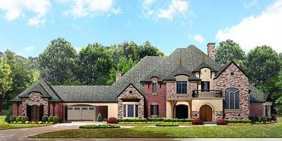 Impressive french country estate 67116gl architectural for French country house plans with porte cochere