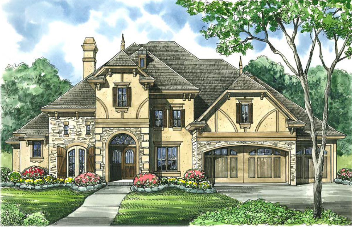 Tudor inspired estate home plan 67118gl architectural for Tudor home designs