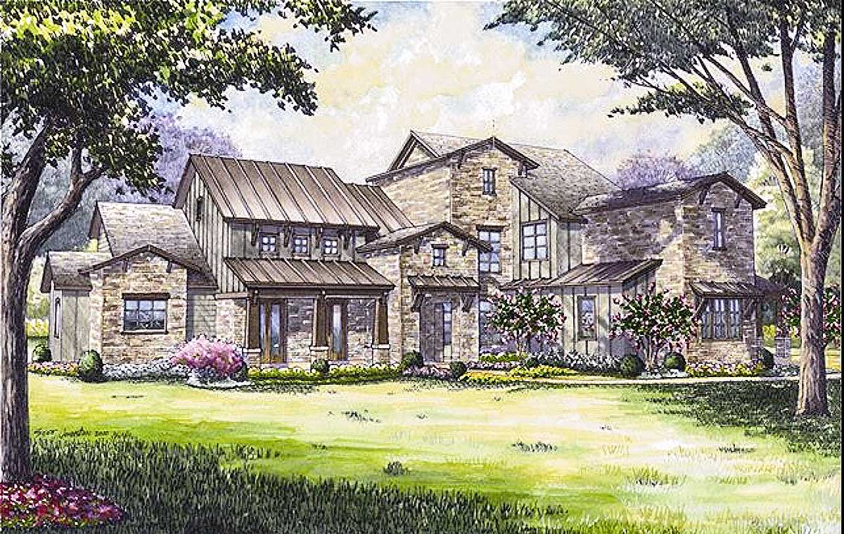 Remarkable hill country house plan 67129gl for Hill country house plans luxury