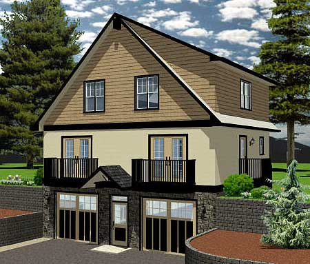 Inviting hillside home plan 6746mg architectural for Hillside garage plans