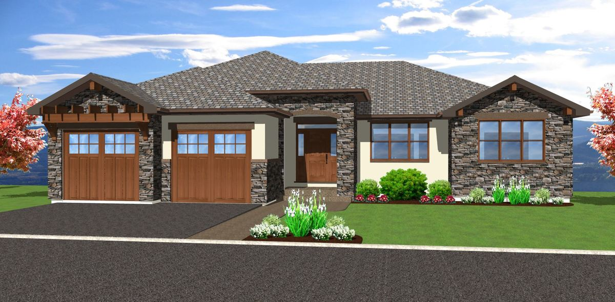 hillside walkout basement house plans spacious hillside home with walkout basement 67702mg 23929