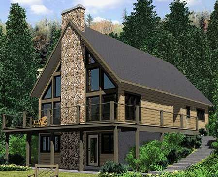 A wraparound sundeck 67711mg architectural designs for A frame house plans canada