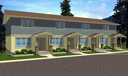 fourplex house plans house design plans fourplex townhouse house plan outside home decor pinterest