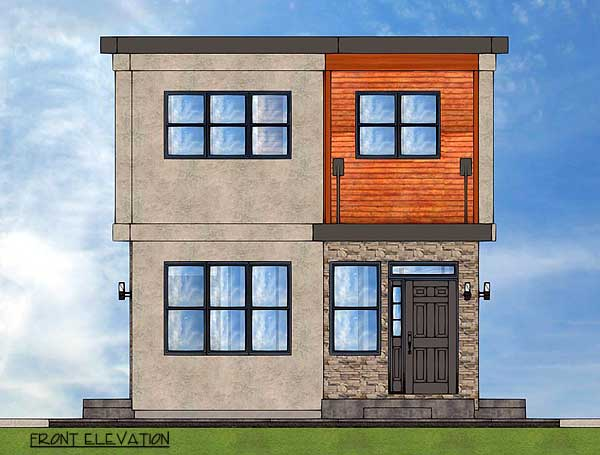 Stylish Duplex 67715mg 2nd Floor Master Suite Cad