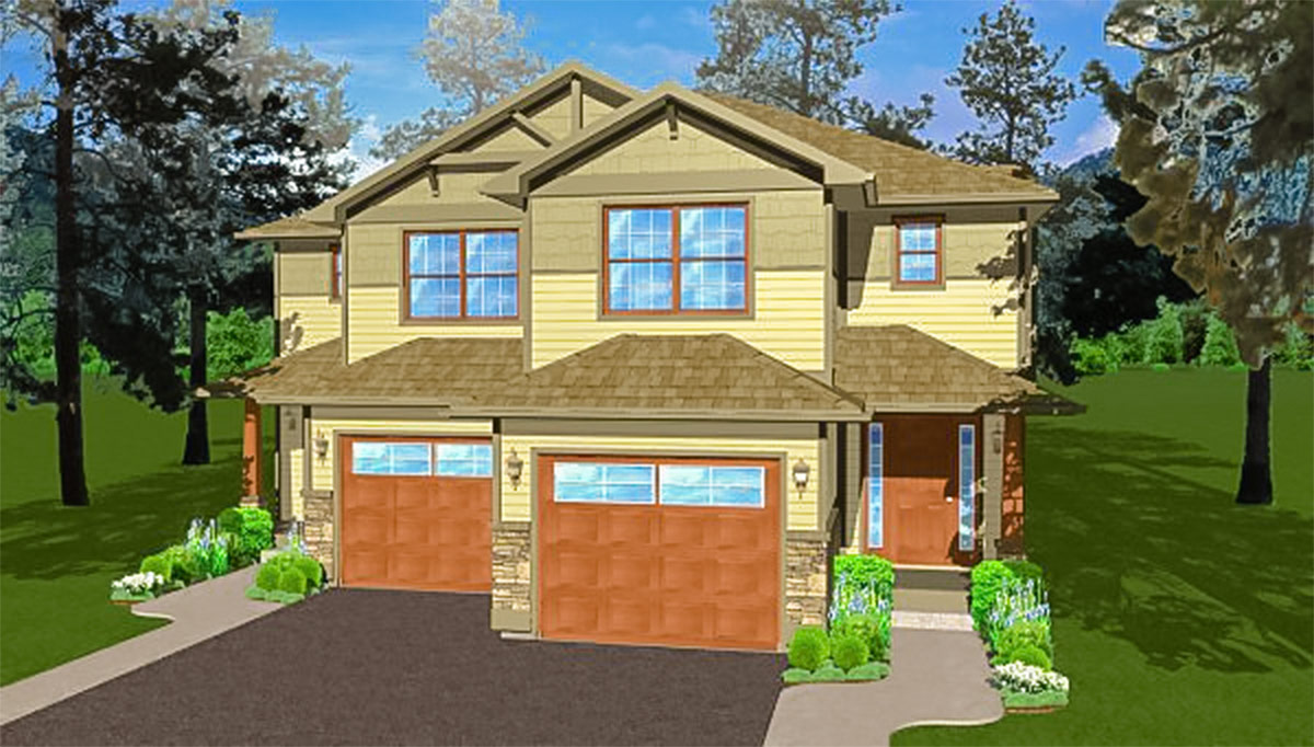 Side By Side Craftsman Duplex House Plan 67719mg 2nd