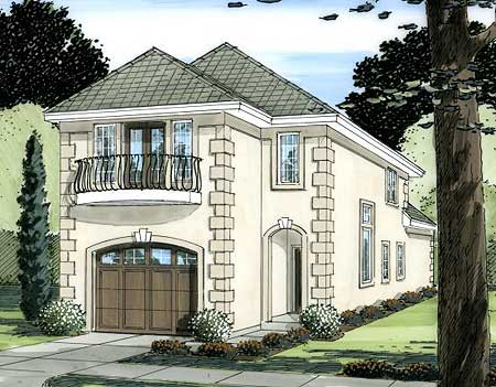 European home plan for the narrow lot 6777mg 2nd floor for European house plans for narrow lots