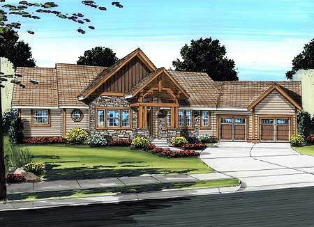 Spacious mountain ranch home plan 6778mg 1st floor for Architectural design mountain home plans