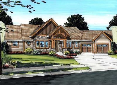 Spacious Mountain Ranch Home Plan - 6778MG | Architectural Designs ...