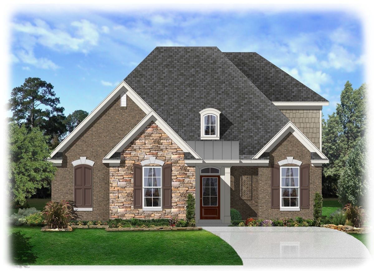Narrow Lot Southern Home Plan 68021hr Architectural