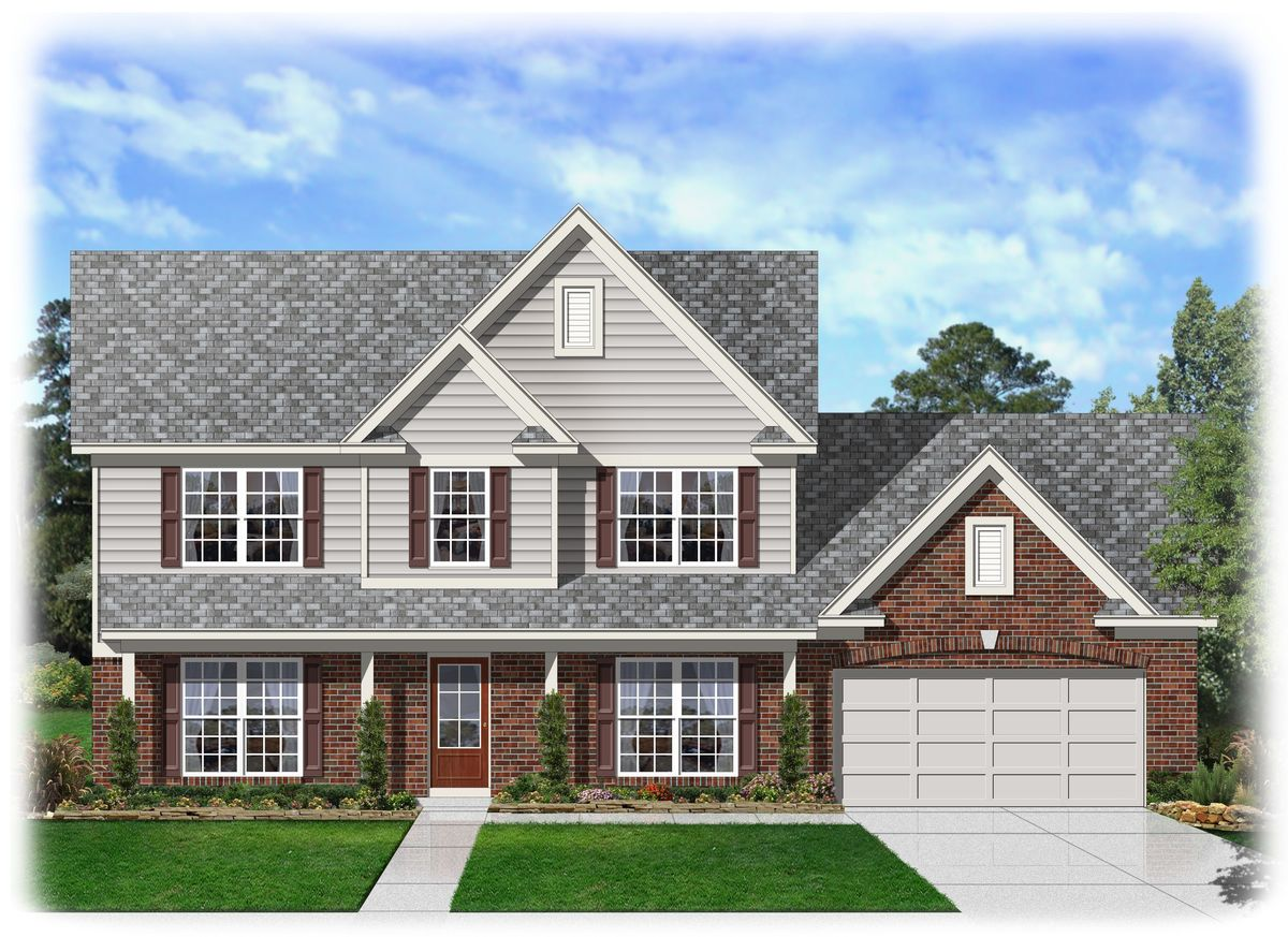 Perfect two story traditional home plan 68041hr for Traditional house plans two story