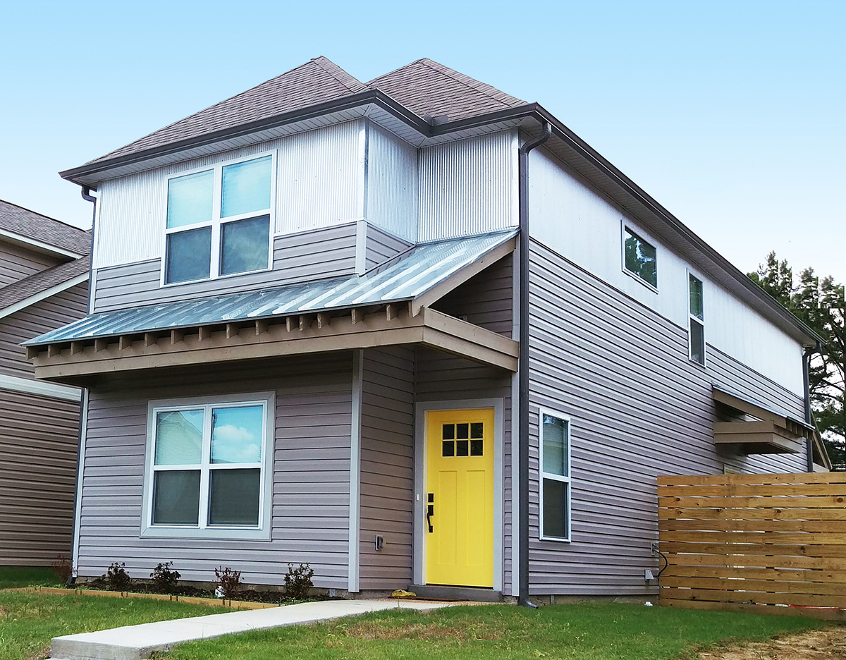 Narrow lot townhome 68407vr 2nd floor master suite for Narrow townhouse plans