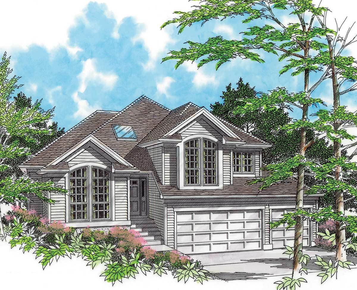 home plans for sloping lots for a side sloping lot 6878am architectural designs 24104