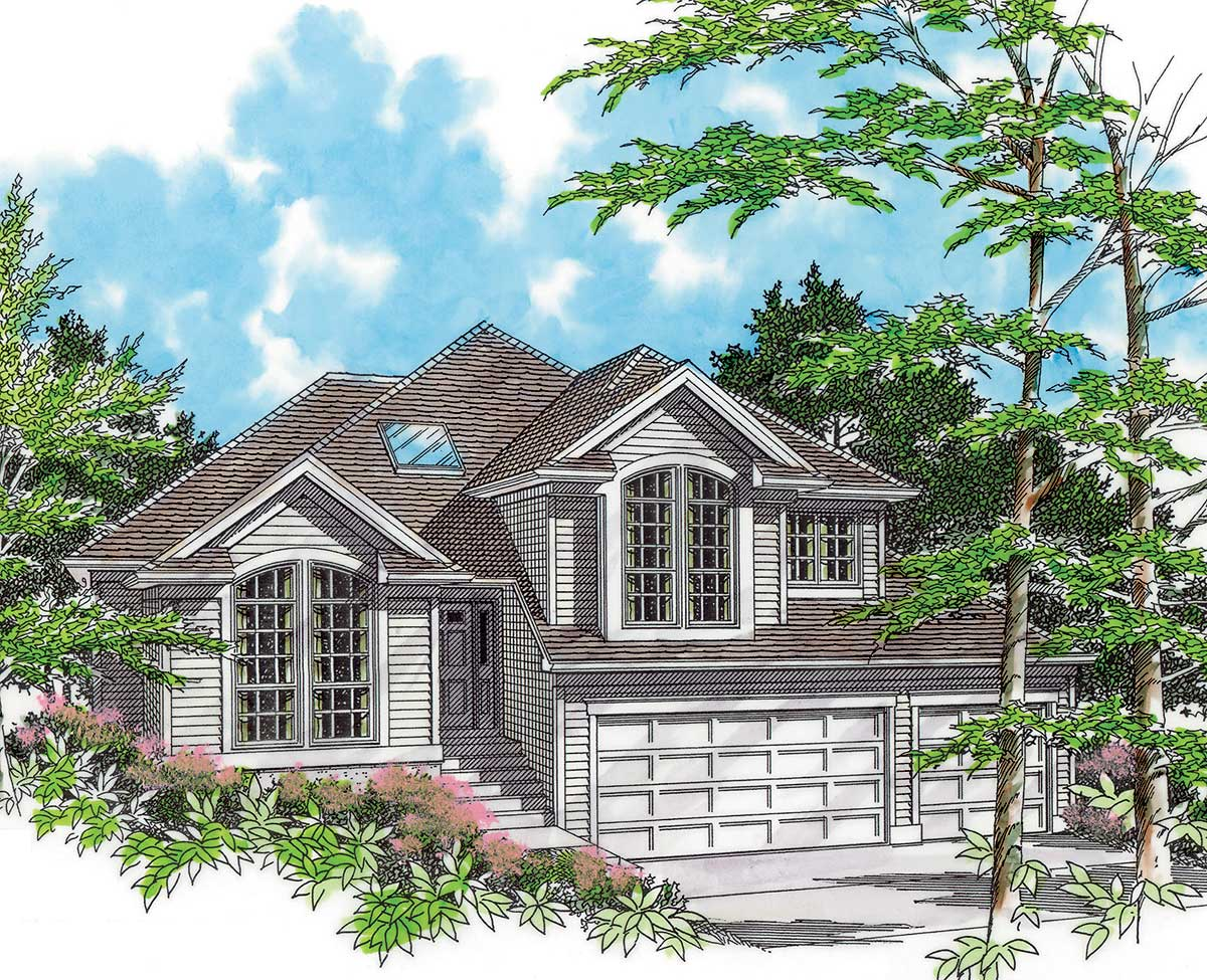 For a side sloping lot 6878am architectural designs for House plans sloped lot