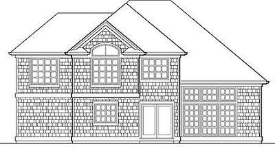 Farmhouse for a Narrow Lot - 6891AM thumb - 02