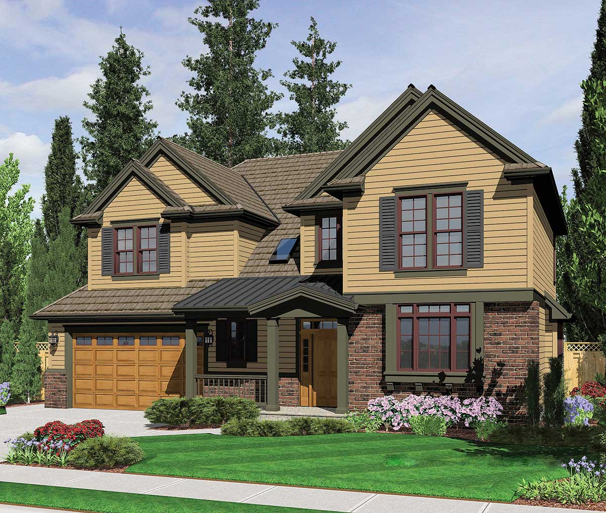 Traditional home plan with classic details 69000am for Traditional farmhouse plans