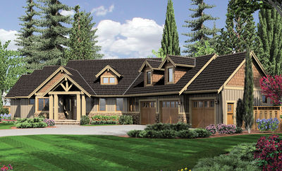 Charming and Luxurious Craftsman Home Plan - 69002AM thumb - 03
