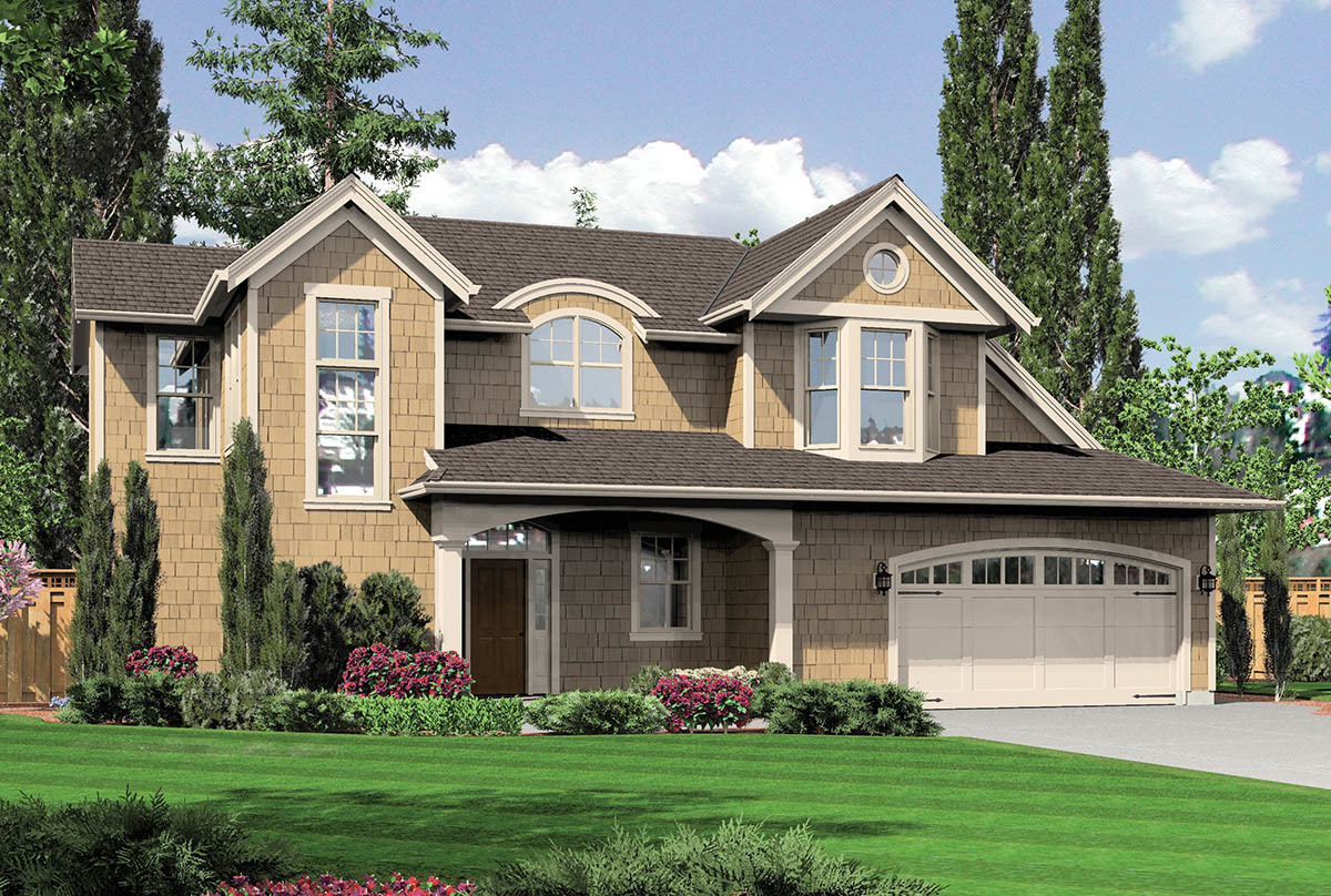 reverse layout two story home plan 69009am architectural