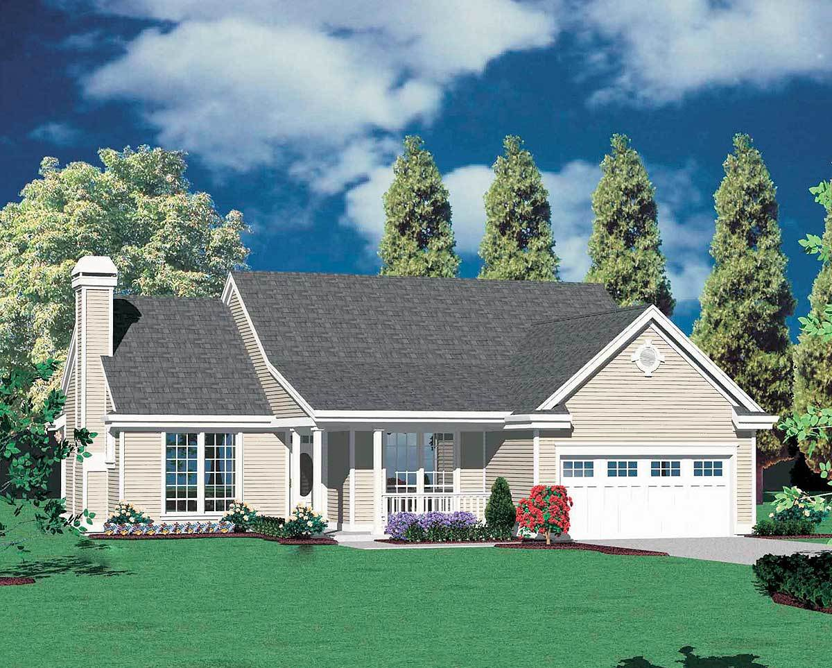 Traditional ranch home plan 69014am architectural for Traditional ranch house