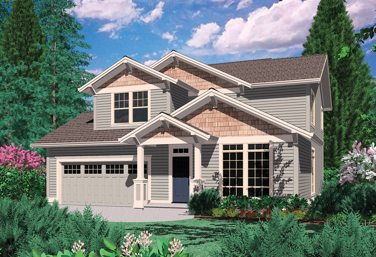 Craftsman style home plan 69027am 2nd floor master for Northwest craftsman style house plans
