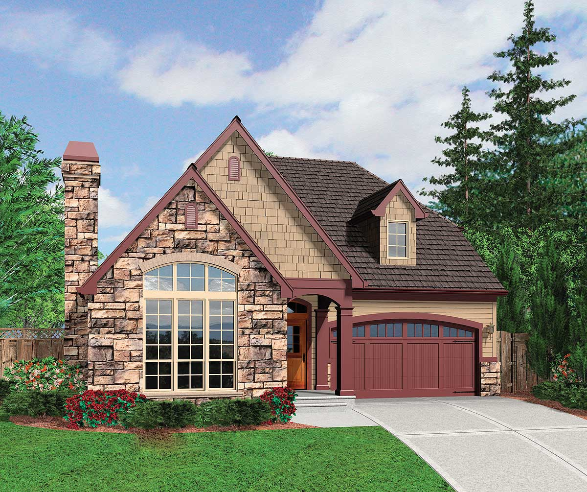 Two Story Cottage Plan 69028am 1st Floor Master Suite