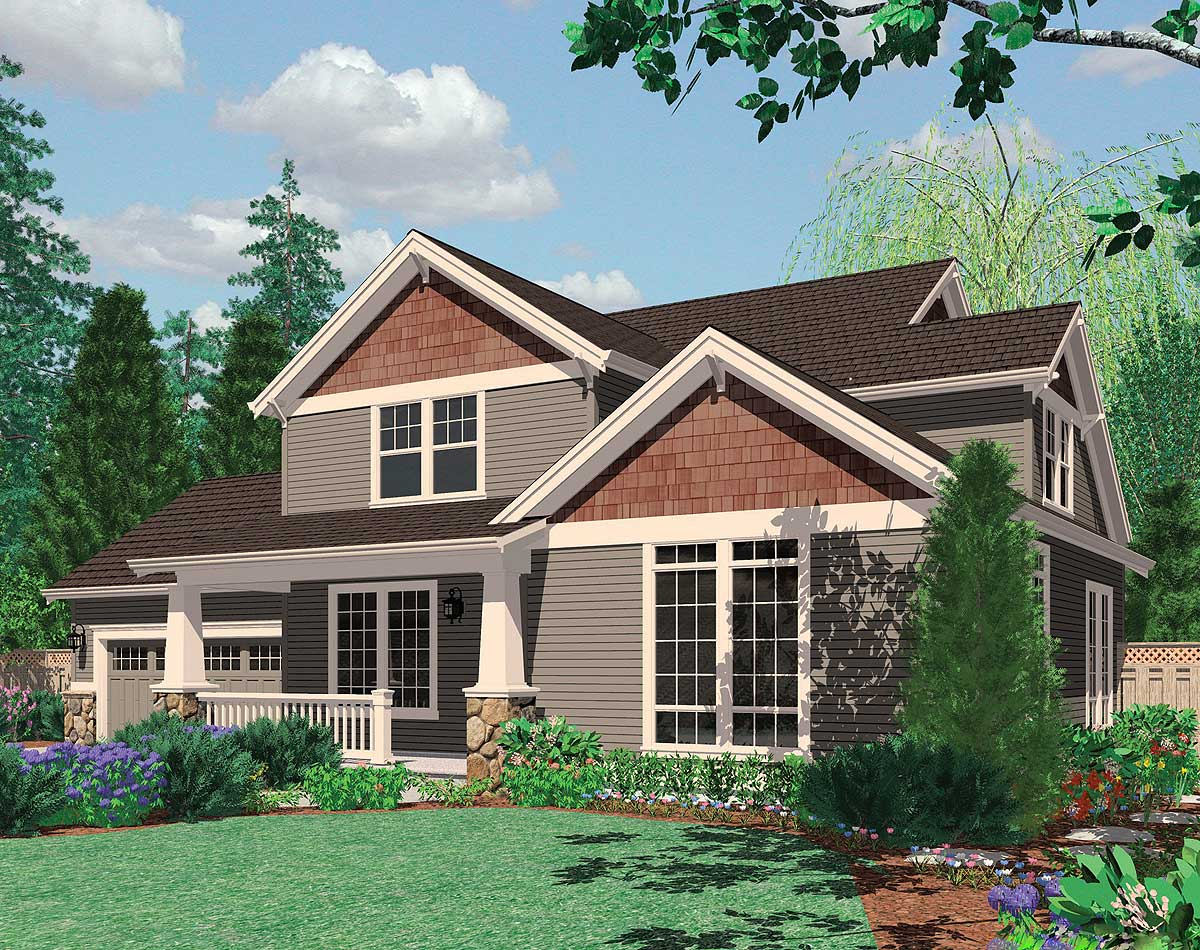 Great family craftsman home plan 69045am 2nd floor for Nw home design