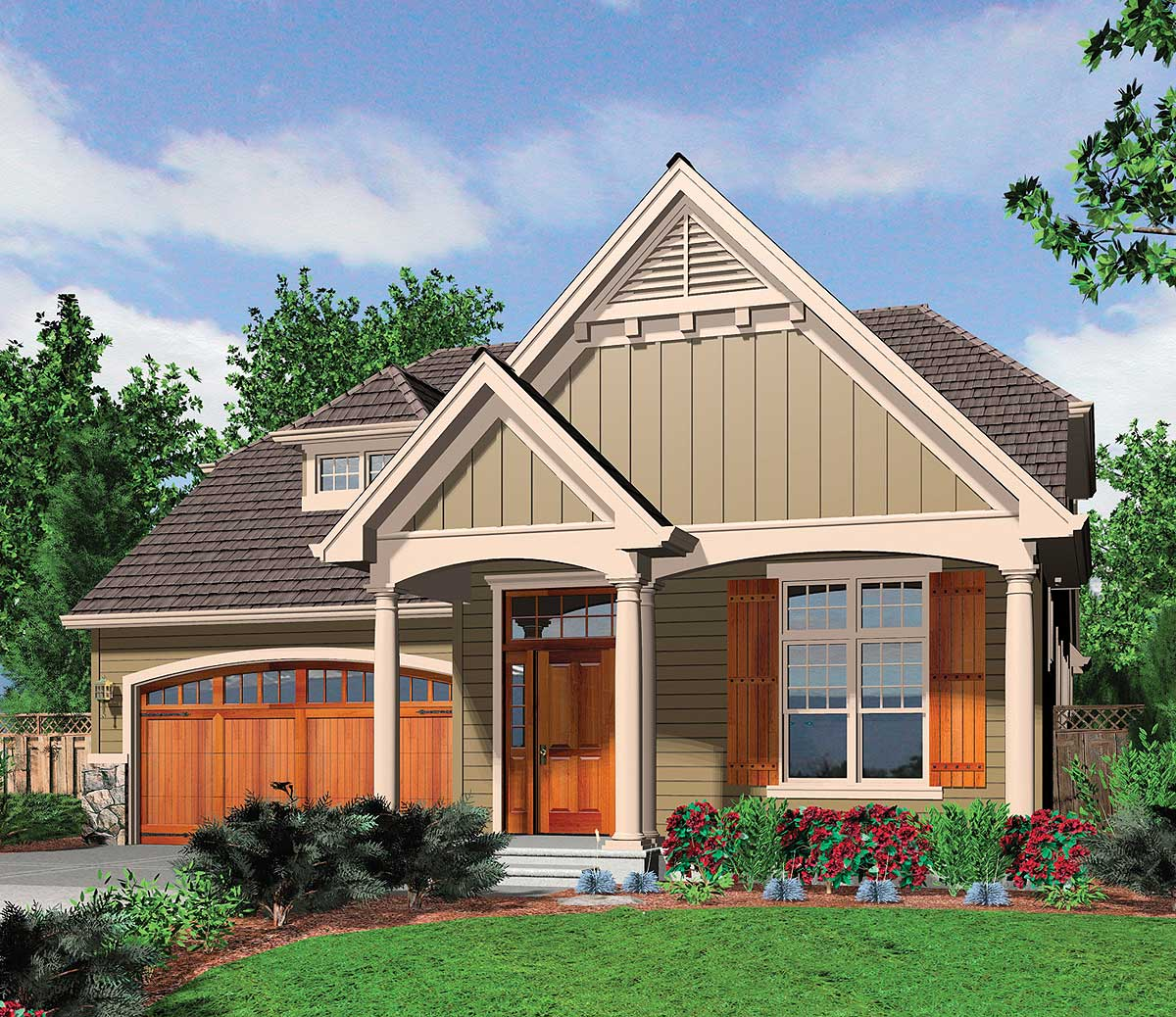 French Cottage Home Plan - 69054AM