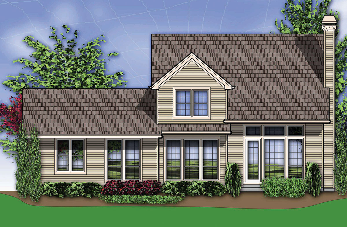 American farmhouse home plan 69055am 1st floor master for American farmhouse plans