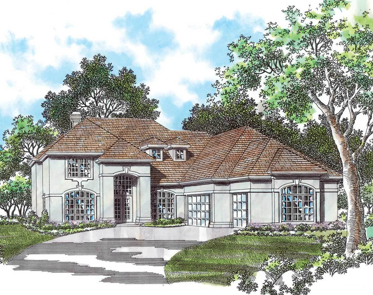 European style manor home plan 69077am architectural for European manor house plans