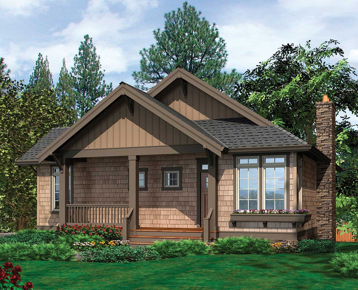 Cottage with airy vaulted ceiling 69083am for Home plans with vaulted ceilings