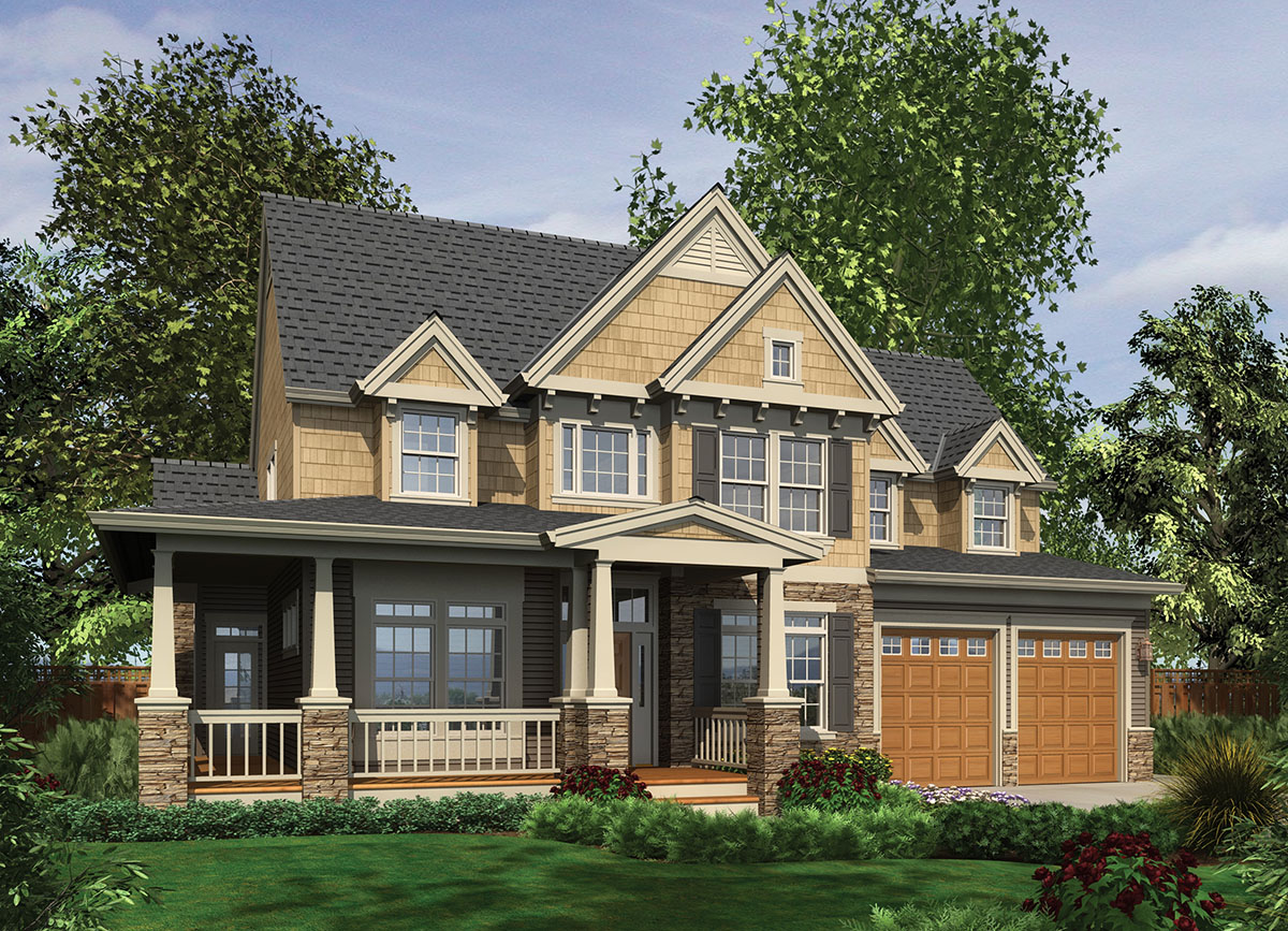 Updated farmhouse plan 69087am 1st floor master suite for Craftsman house gallery