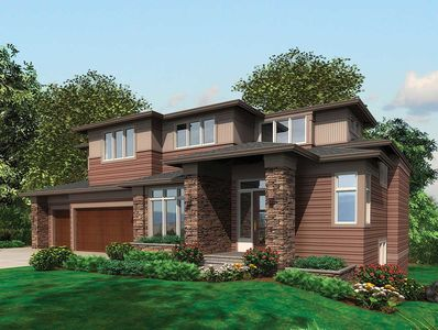 Flexible Modern Home for Sloping Lot - 69104AM thumb - 01