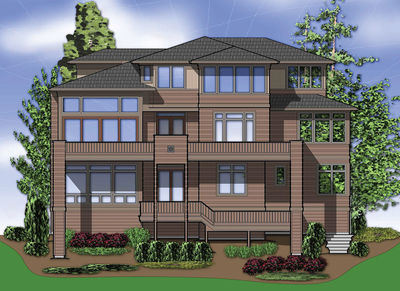 Flexible Modern Home for Sloping Lot - 69104AM thumb - 02