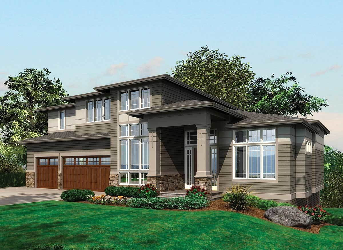 house plans with daylight basement contemporary prairie with daylight basement 69105am 24181