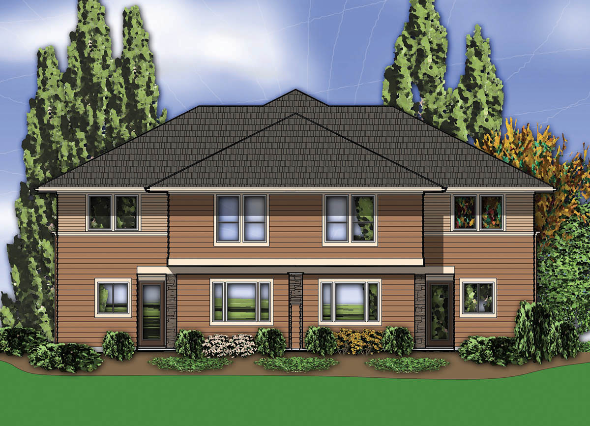 hillside house plans hillside multi family home plan 69111am 2nd floor master suite cad available drive under 160