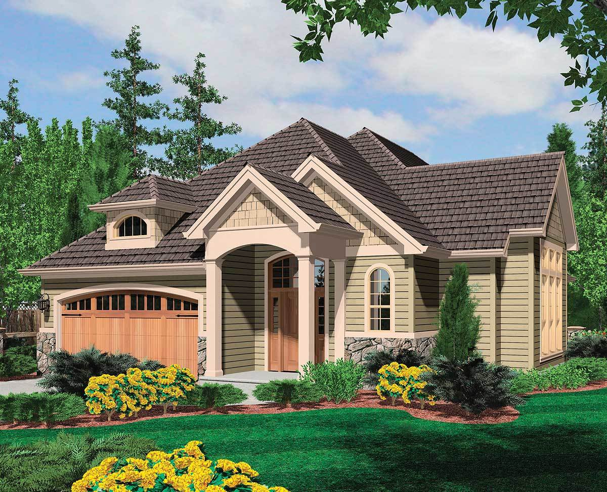 European cottage plan perfect for working from hom for Perfect cottage