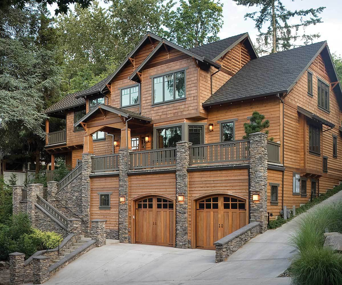 Luxury Mountain Homes: Three Level Plan With Warmth And Elegance
