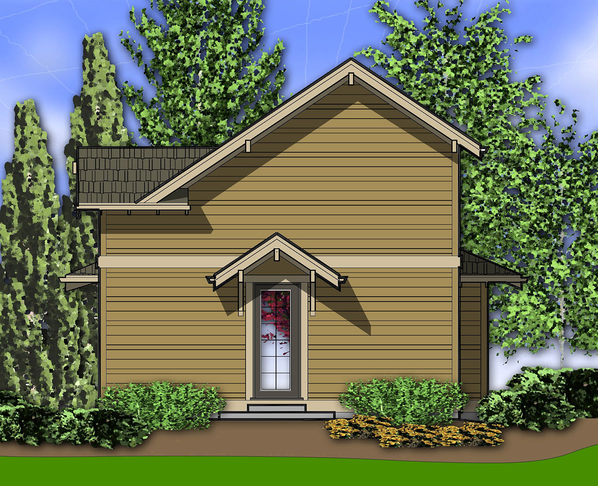 Two Story One Bedroom Plan For Sloped Lot 69146am 2nd
