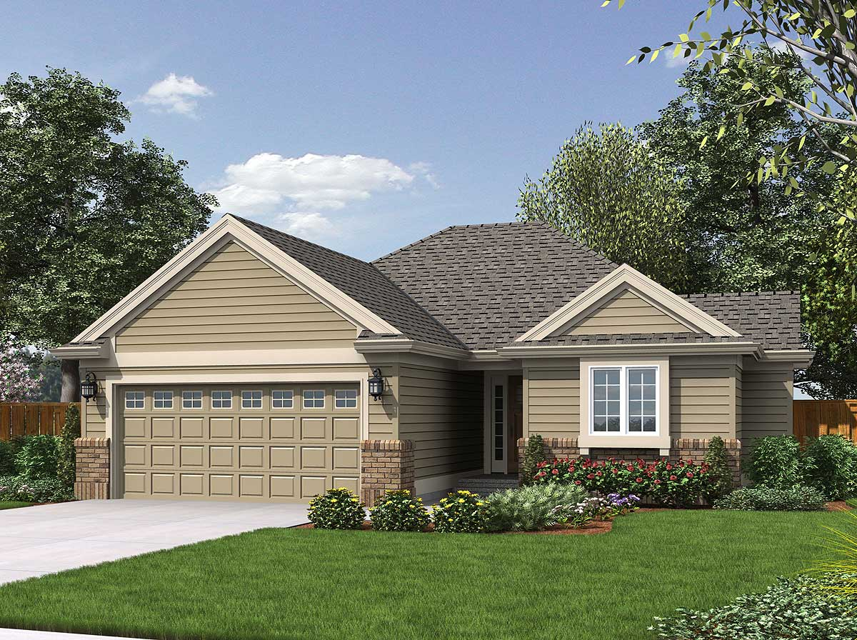 Comfortable 3 Bedroom Plan 69148am Architectural