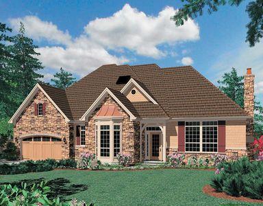 Enchanting Hillside Design in Two Widths - 69167AM thumb - 01