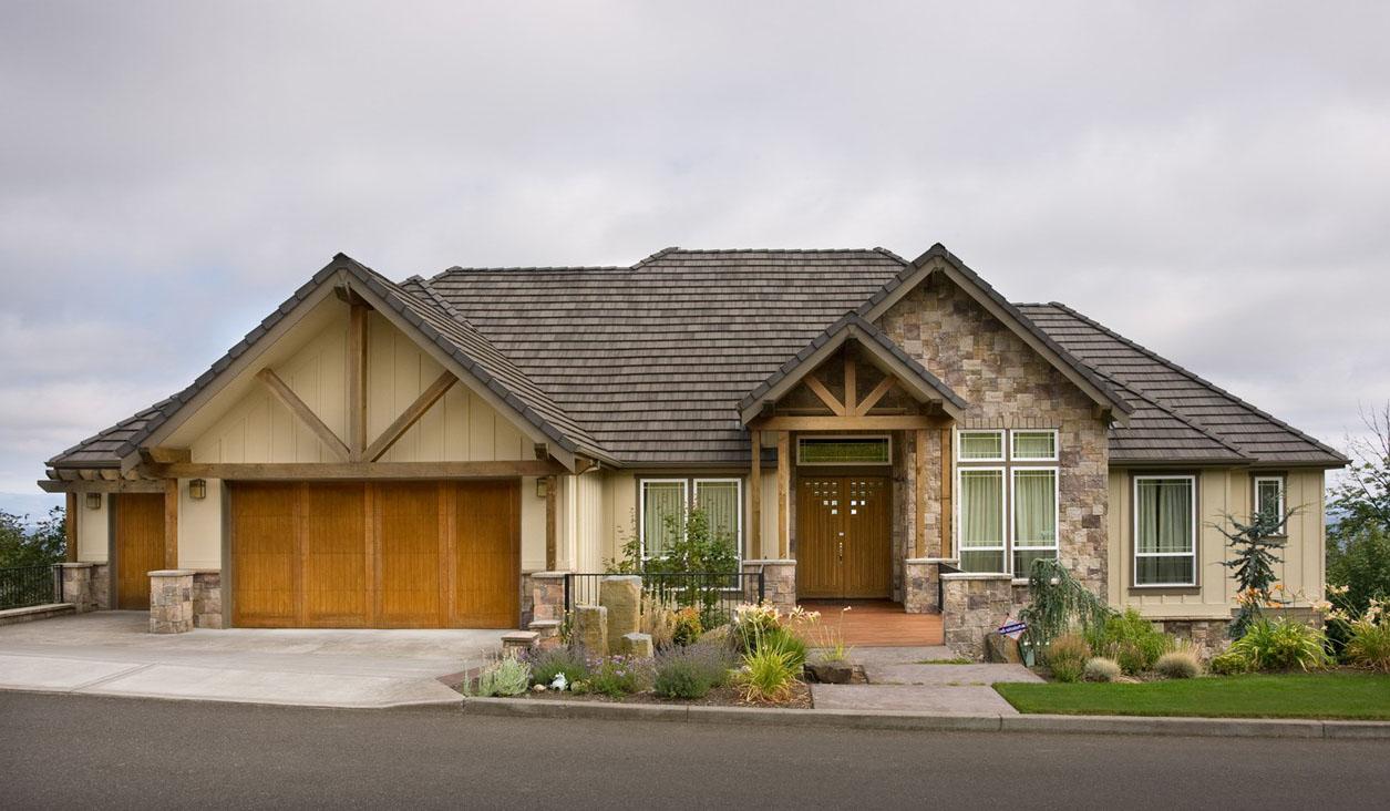Luxury Hillside Craftsman - 69170AM