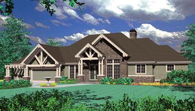 Luxury Hillside Craftsman - 69170AM thumb - 12