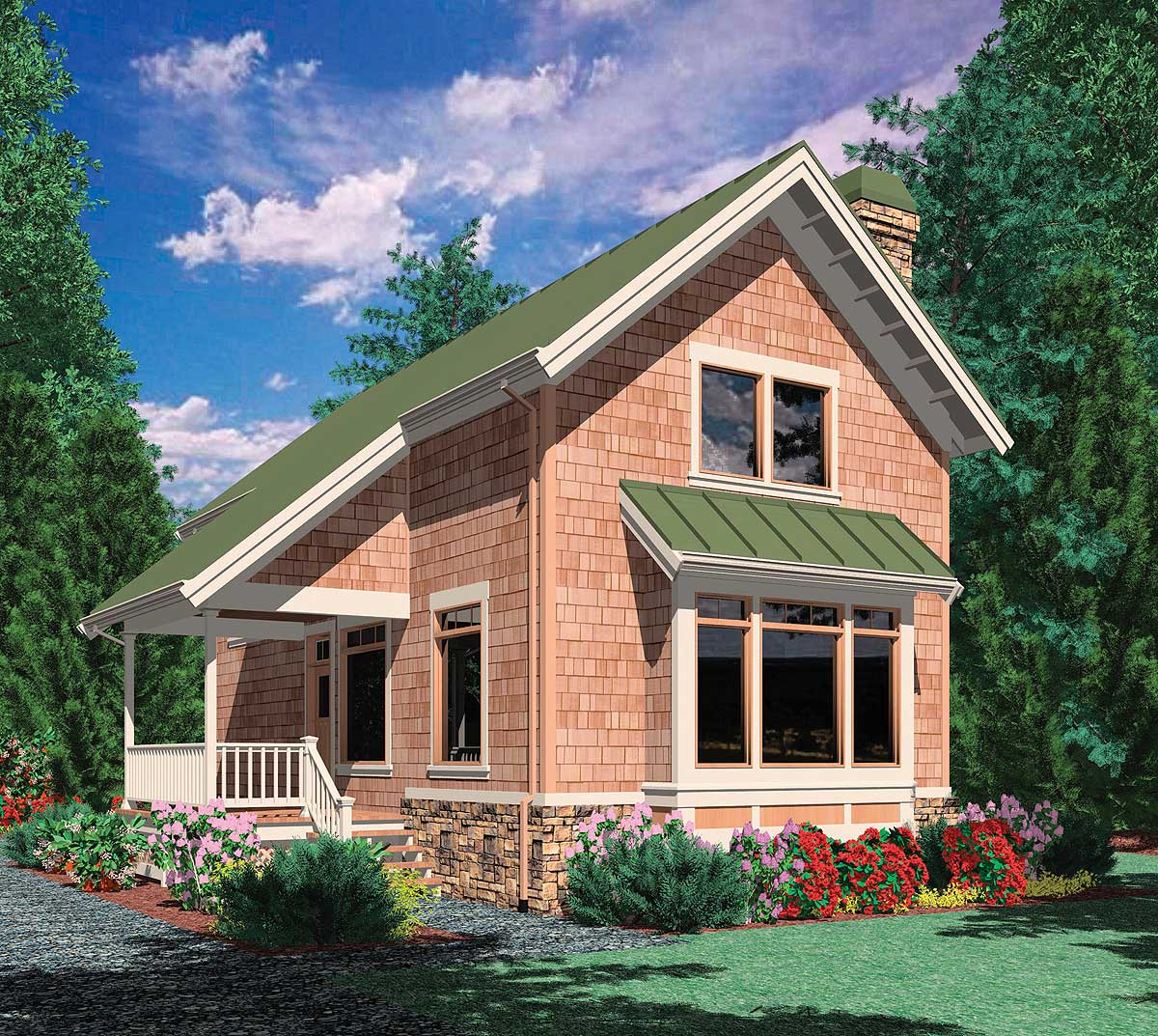 Side porch entry 69172am architectural designs house for Side porch house plans